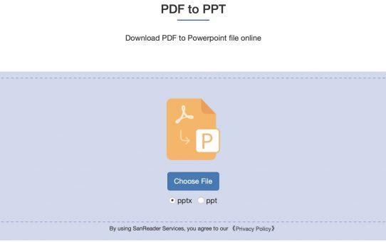 كيفية تحويل PDF إلى وثيقة PPT؟