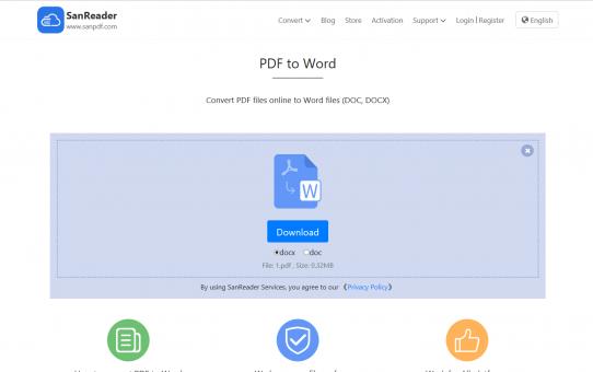 أداة تحويل بسيطة عبر الإنترنت يمكنها تحويل PDF إلى Word