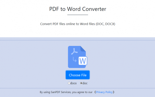 Hoe PDF-bestanden converteren naar Word (DOC, DOCX) bestanden met Sanpdf?