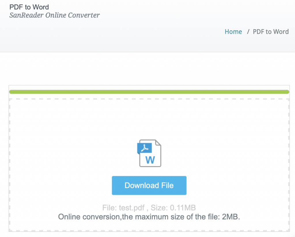 How to convert PDF to Word document? – SanPDF Converter Free