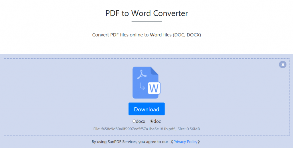 How to convert PDF files to Word(DOC,DOCX) files using