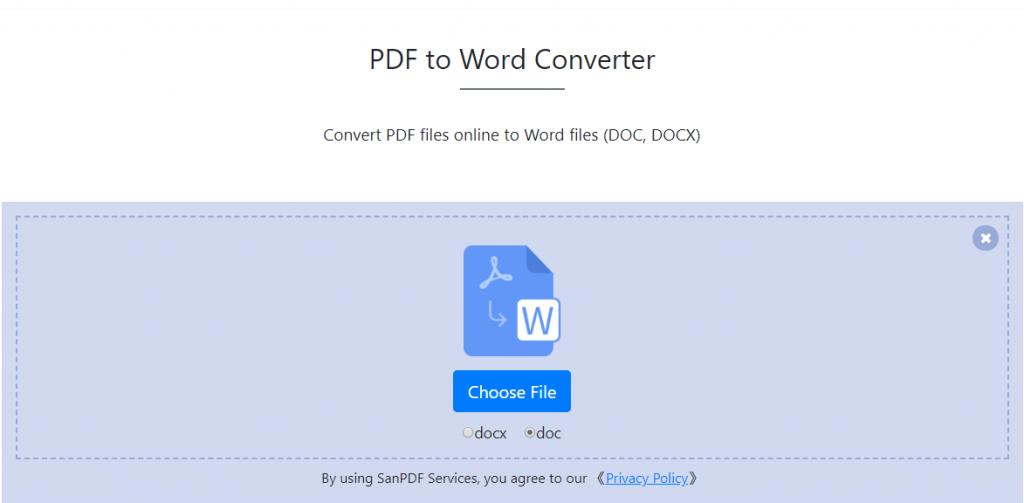 Pdf To Word Converter 100 Free Sanpdf Converter Free