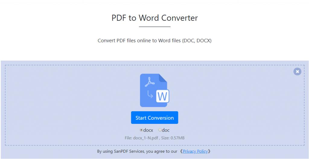 PDF to Docx Converter