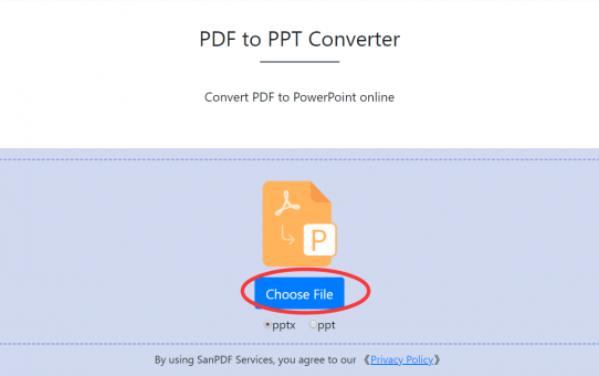 Free online conversion of San PDF to Microsoft Office PowerPoint (.ppt, .pptx) to help you solve problems