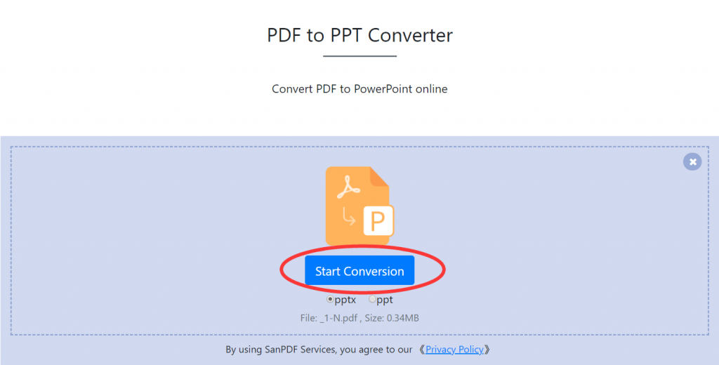 San PDF to Microsoft Office PowerPoint (.ppt, .pptx)