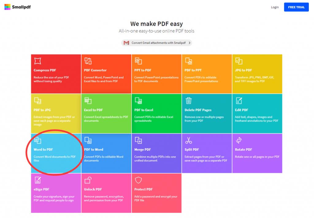Microsoft Office Word (.doc, .docx) to San PDF