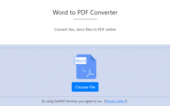 Online Word to PDF coup, come to collect!