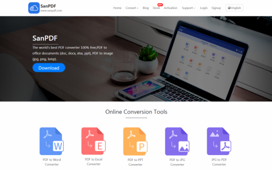 The simplest and most convenient way to convert this PDF to Word is definitely worth a look at the SanPDF online converter.