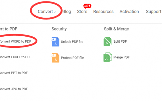 A quick and easy way to get from Docx documents to PDF - here are two online converters you worth knowing