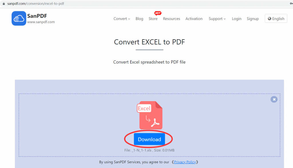 Microsoft Office Excel (.xls, .xlsx) (.xls, .xlsx) to Adobe  PDF