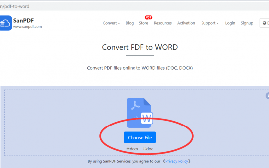 You have a method to convert a ADOBE PDF document into a Microsoft Office Word (.doc, .docx), please check