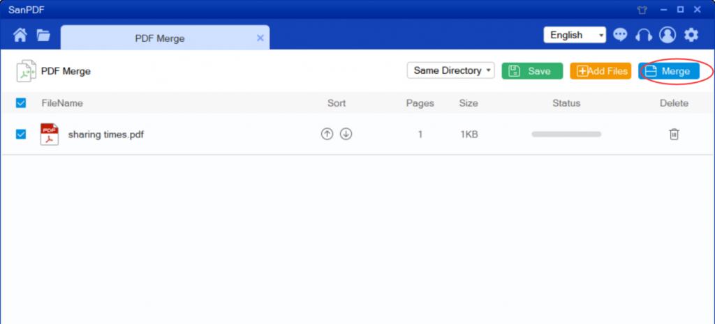 Adobe PDF  merge