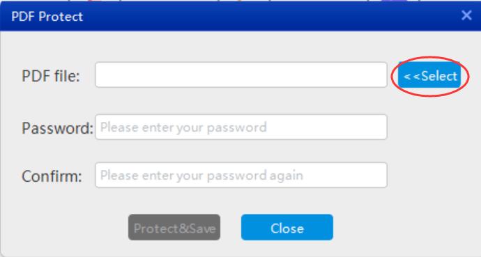 Adobe PDF protect