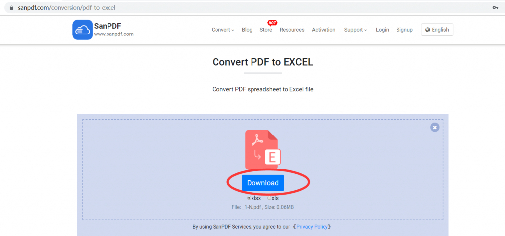 ADOBE PDF to Microsoft Office Excel(.xls,.xlsx)