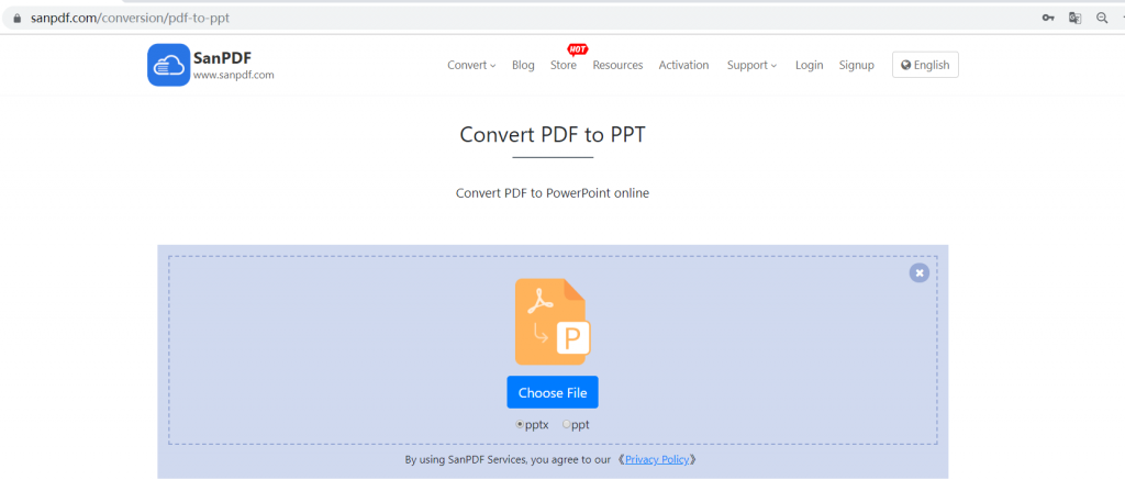 ADOBE PDF file to MICROSOFT OFFICE POWERPOINT (.PPT, .PPTX)