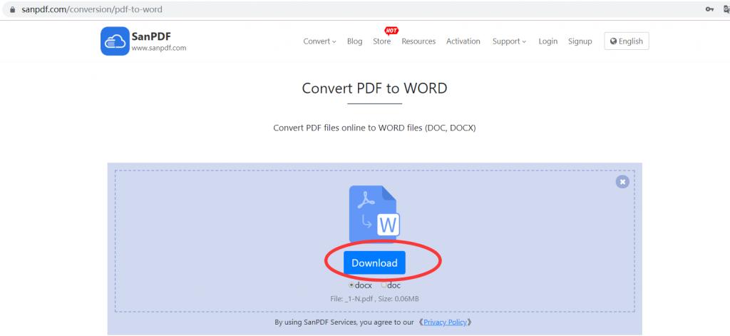 ADOBE PDF to Microsoft Office word (.doc, .docx)