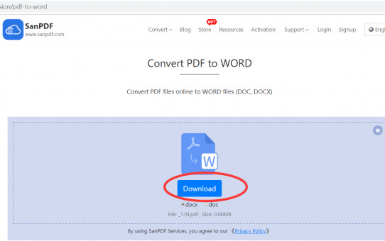 Convert Microsoft Office word (.doc, .docx) and ADOBE PDF without downloading the converter
