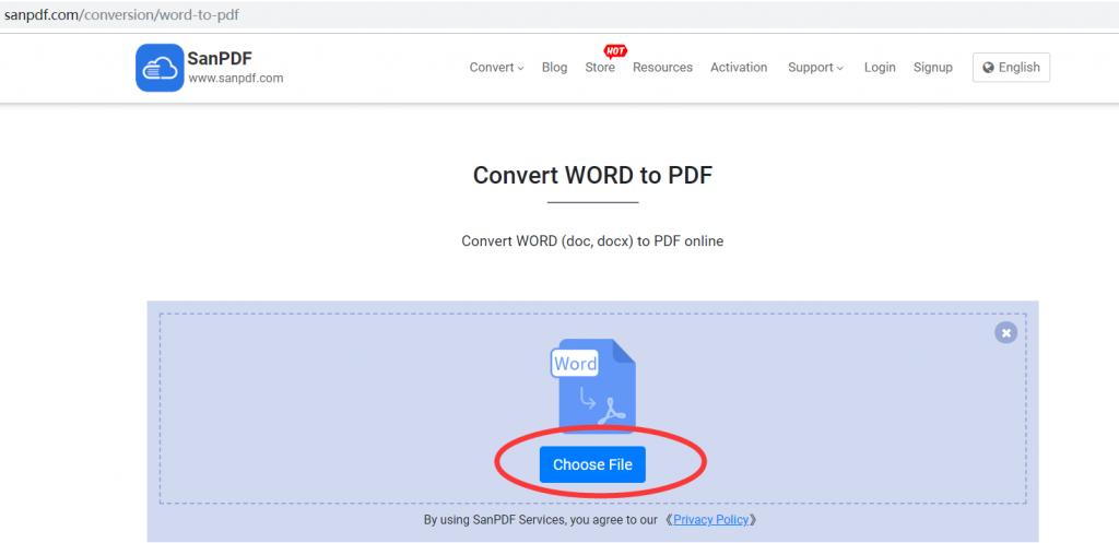 Microsoft Office word (.doc, .docx) to ADOBE PDF